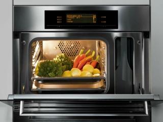 Программируемое время приготовления в духовках, микроволновках и пароварках  Miele